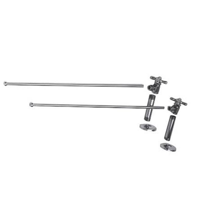 Polished Copper Standard Plumbing Supply Jaclo 251XXL-PCU Extra LongP Trap with Round Box Escutcheon
